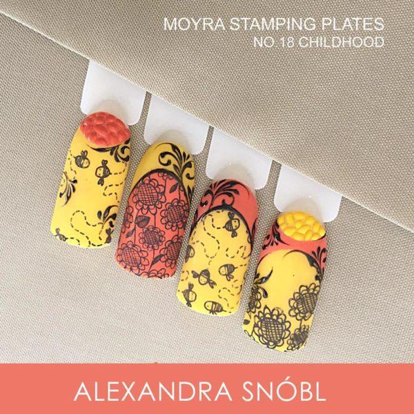 MOYRA STAMPING PLATE 18 CHILDHOOD