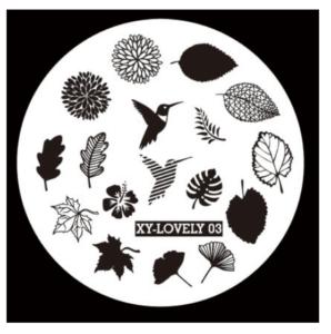 Стемпинг пластина XY-Lovely 03