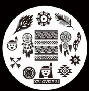 Стемпинг пластина XY-Lovely24
