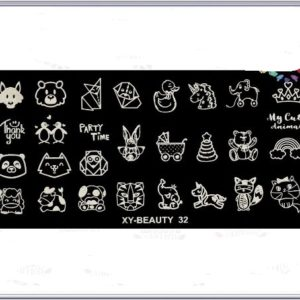 Стемпинг пластина xy-beayty 32