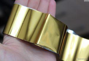 фольга для литья золото, глянцевая
