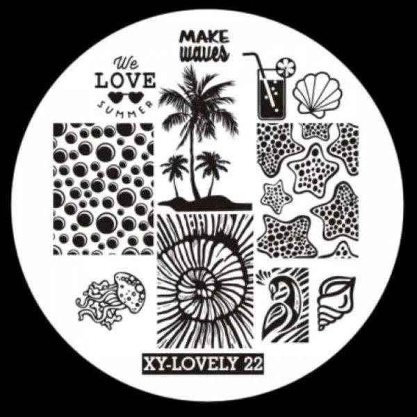 Стемпинг пластина XY-Lovely 22